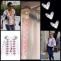 Celebrities wearing an Isabel Marant creation - inspired by the traditional Blouse