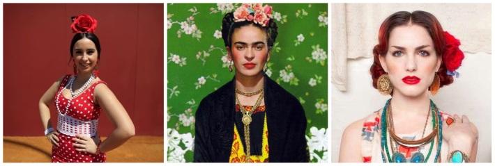 Frieda, Frieda remake and Andalusian girl Portraits Colaj